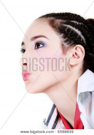 Glamour Retrato de joven atractiva