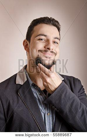 Goatee Expressive Man
