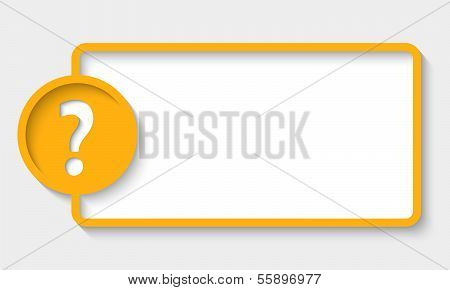 Abstract Text Frame With Question Mark