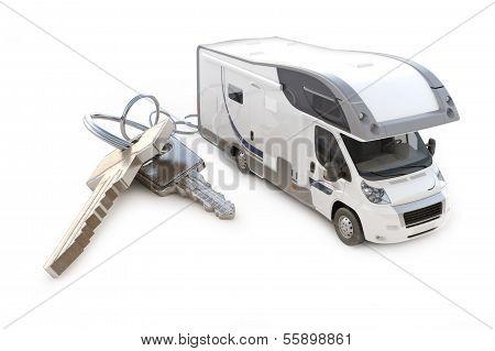 Recreational vehicle with keys