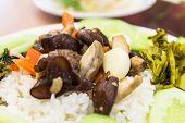 picture of mahi  - fried mushrooms is Breakfast in thailand  - JPG