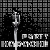 image of karaoke  - vector background with microphone for karaoke party - JPG