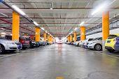 stock photo of fluorescence  - Parking garage - JPG