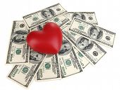 picture of american money  - Love and money concept - JPG