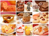 pic of pound cake  - Collage showing a variety of delicious baked goods including cookies - JPG