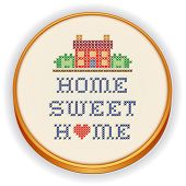 stock photo of duplex  - Embroidery - JPG