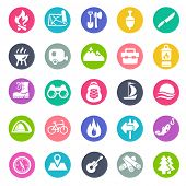 pic of travel trailer  - camping icons - JPG