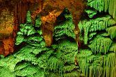 pic of stalagmite  - Strange green - JPG