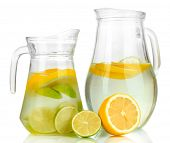 image of pitcher  - Cold water with lime - JPG