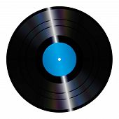 image of lp  - An illustration of an isolated lp vinyl record - JPG