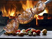 stock photo of brazilian food  - Picanha - JPG