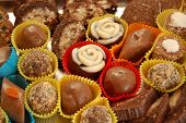 image of truffle  - Pic of  sweet Homemade various chocolate truffles - JPG