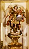 Saint Michael Statue Church Of El Salvador Seville Andalusia Spain