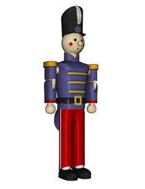 picture of tchaikovsky  - Blue uniformed Toy Soldier is standing at Mast attention - JPG