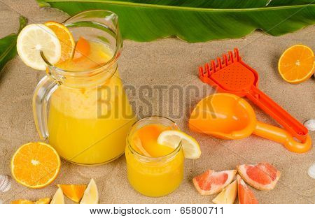 Fruit Juice On The Beach
