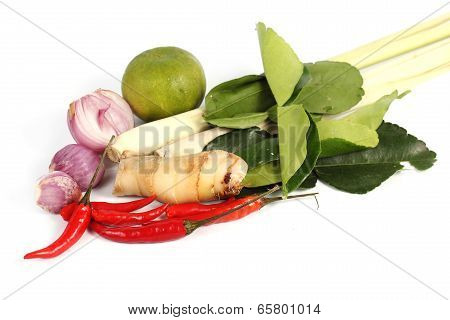 Ingredient For Tomyam Set (thai Food)