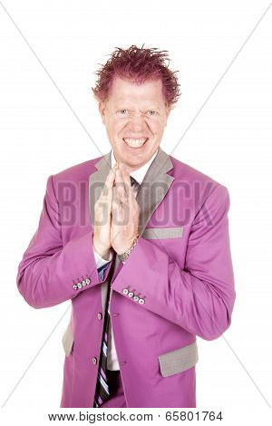 Man In A Purple Suit Crazy Face