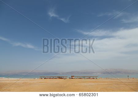 The Popular Beach Of The Dead Sea