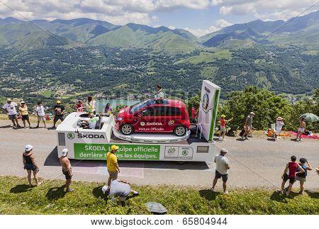 Publicity Caravan In Pyrenees