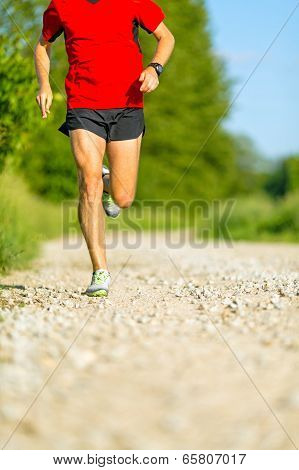 Man Cross Country Trail Running