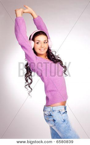 Pretty Girl With Earmuff