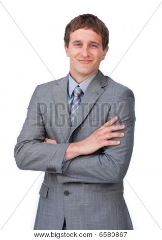 Attractive Businessman With Folded Arms