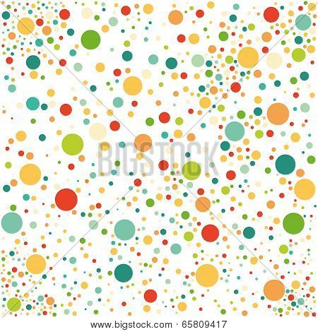 Multicolored spotted seamless pattern