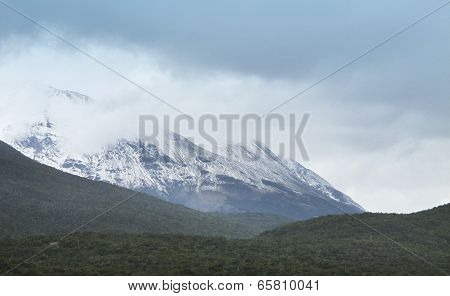 Patagonian Landscape With Mountains. Argentina