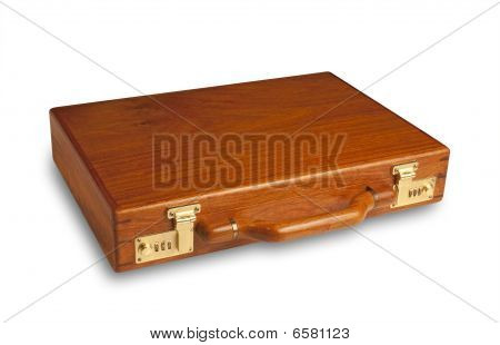 Attache Case Flat,isolated