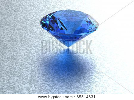 Luxury 3D diamonds render. Jewelry gemstone. Benitoit. Sapphire. Iolite.Tanzanite