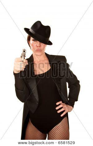 Pretty Woman With Handgun