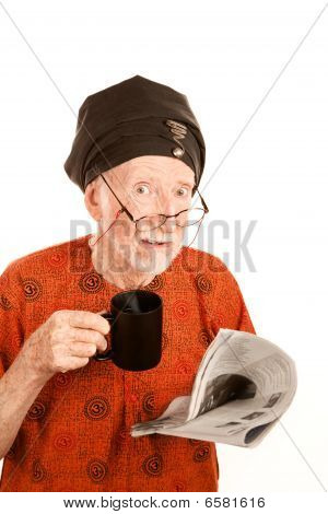 Skeptical New Age Man With Cioffee