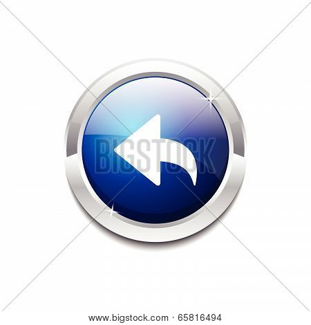 Reset Replay Circular Vector Blue Web Icon