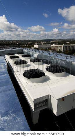 Sistema de ventilación en el techo
