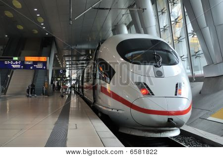 Front View Of A Intercity Express Train (ice)