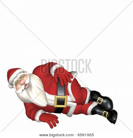 Santa Laying On His Side
