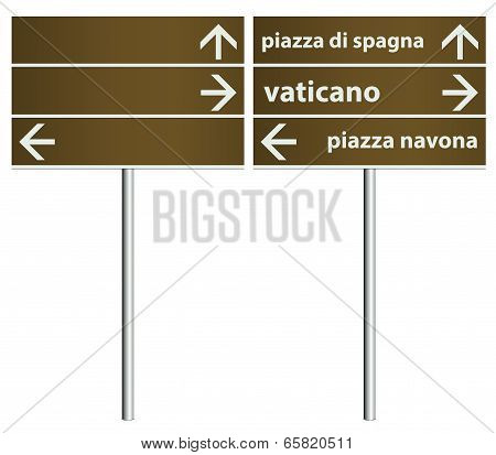 Rome Italy City Signboards Template
