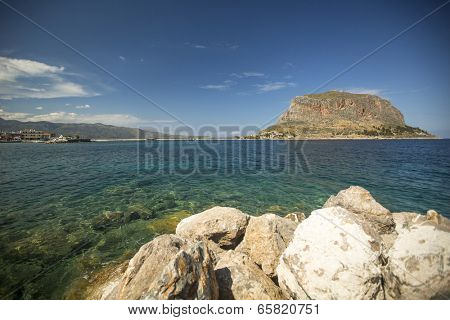 Greek town Monemvasia in Laconia south-eastern peloponnese.