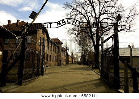 Entrance Gate At Auschwitz I Concentration Camp