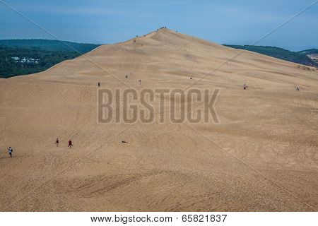View From Dune Of Pilat - The Largest Sand Dune In Europe, Aquitaine, France