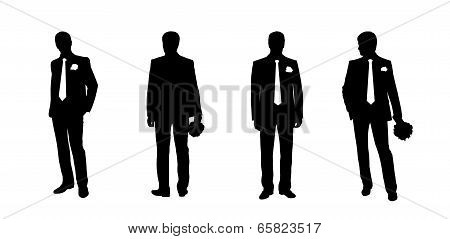 Groom Silhouettes Set 2