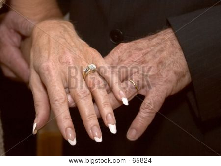 Mature Wedding Hands