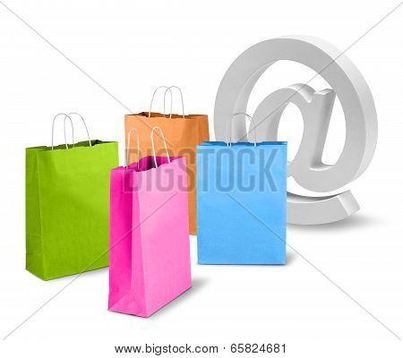E-commerce Net Trade Concept