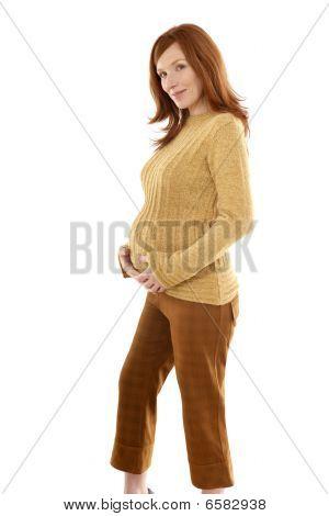 Pregnant Woman Fashion Redhead Portrait