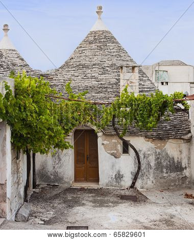 An old trulli of Alberobello not inhabited