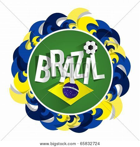 Brazilian Soccer Team Badge