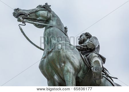 Horse And Statue In Washington Dc