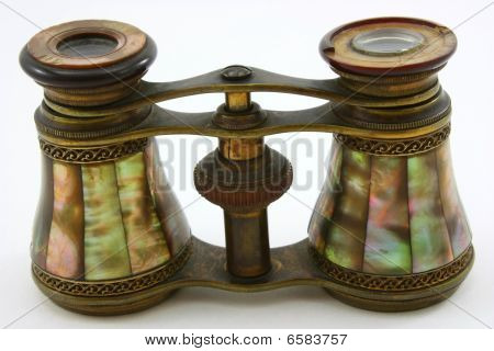 Antique opera glasses, mother of pearl