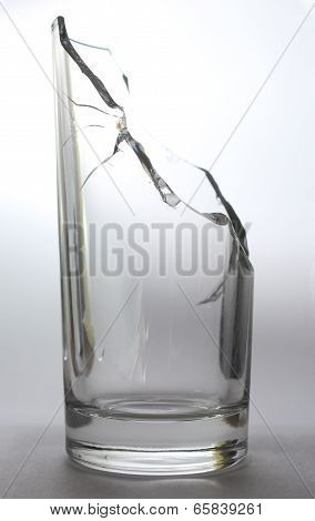 Isolated Broken Water Glass