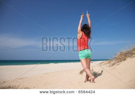 Celebrando en la playa